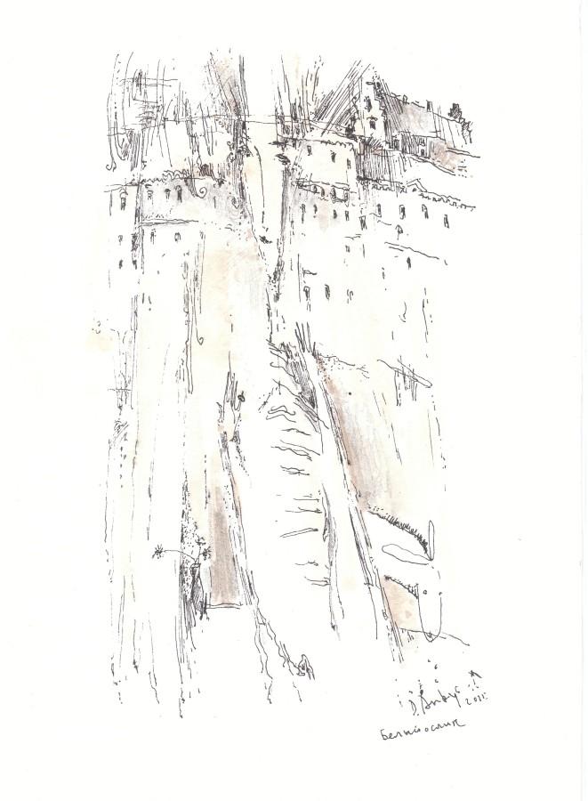 Белый ослик